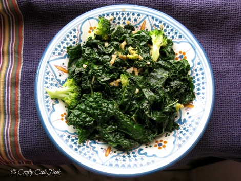 vegetarian stir-fried kale recipe