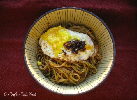 vegetarian spicy Chinese noodle dish