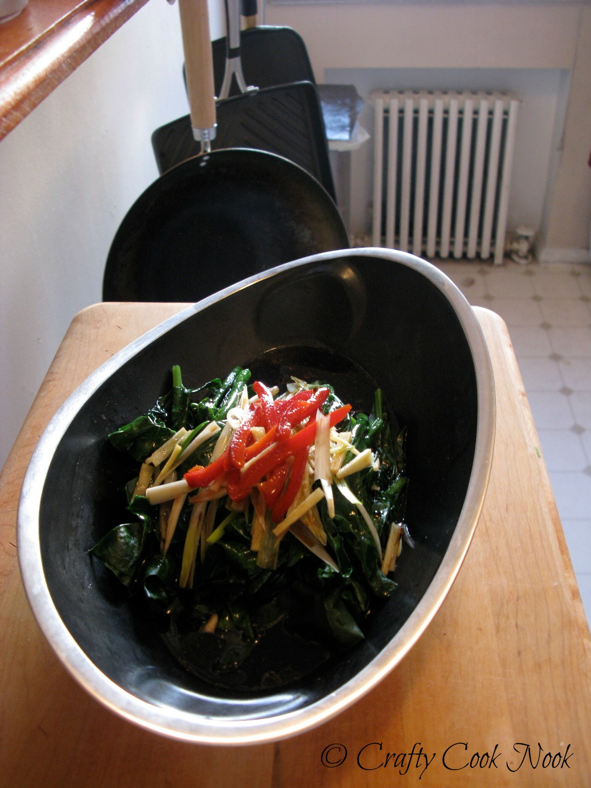 how to cook red choy sum