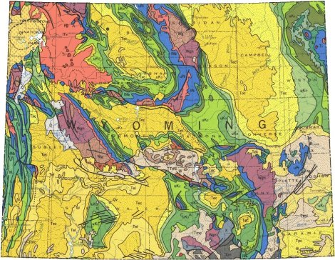wyoming geological map