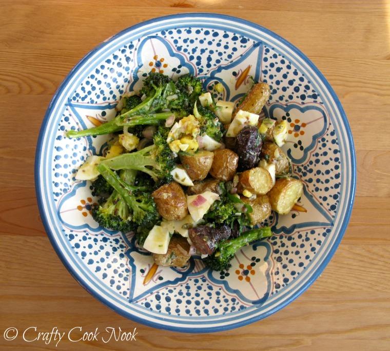 Broccoli and Potato Gribiche