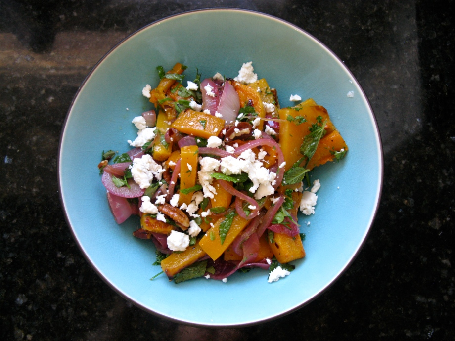 Roasted Butternut Squash Spicy Onions