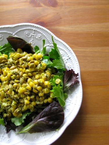 Yellow Split Pea Pesto Salad