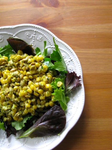 Yellow Split Pea Pesto Salad