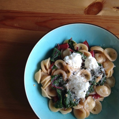 Oriecchiette with Chard and Ricotta