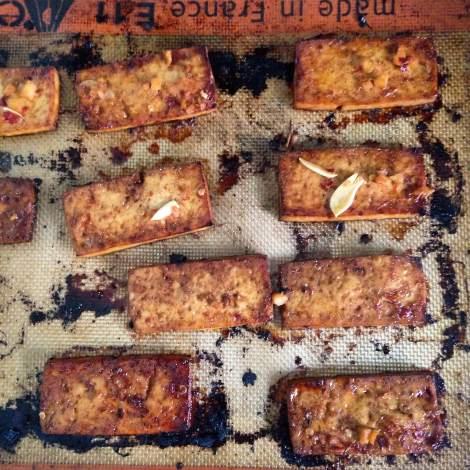 Ginger Sesame Baked Tofu