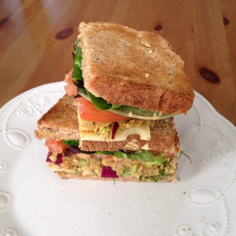 Smoked Almond and Chickpea Salad Sandwiches