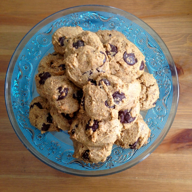 vegan Chocolate Chip Almond Butter Cookies