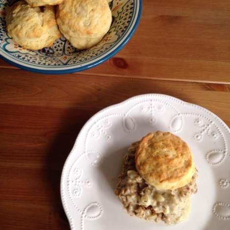 Vegan Biscuits with Sausage Gravy