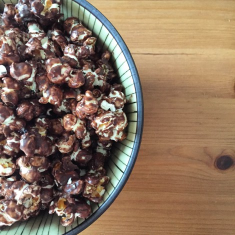 Salted Dark Chocolate Popcorn